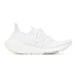 Adidas Originals White Ultraboost 21 Sneakers FY0403