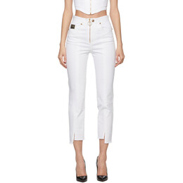 Versace Jeans Couture White Cropped Jeans EA1HWA006E60501