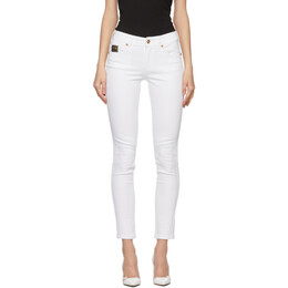 Versace Jeans Couture White Embroidered Skinny Jeans EA1HWA0K5E60501