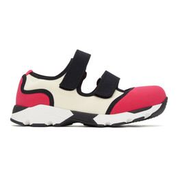 Marni Pink and White Strappy Sneakers SNZWS01G02 TCR86