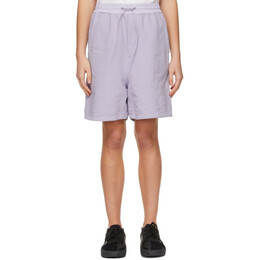 Y-3 Purple Classic Terry Shorts GV4155