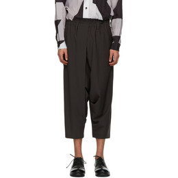 132 5. Issey Miyake Grey Seamless Bottom Basic Trousers IL16FF112