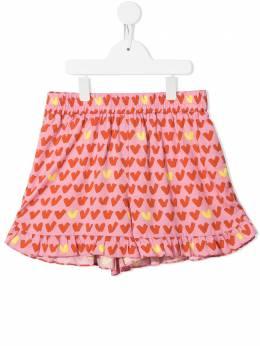 Stella McCartney Kids шорты с оборками и принтом 602731SQK96