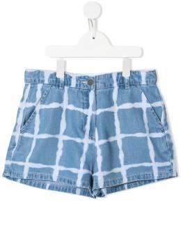 Stella McCartney Kids джинсовые шорты в клетку 602730SQKD2