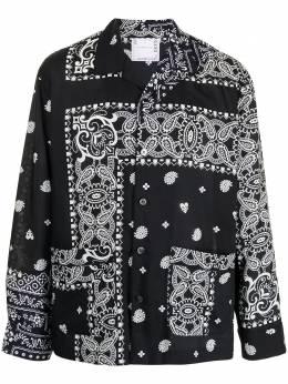Sacai рубашка с принтом пейсли 2102470M