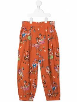 Stella McCartney Kids брюки с принтом Flamingo Party 602750SQK84