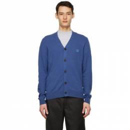 Acne Studios Blue Wool Patch Cardigan C60030-