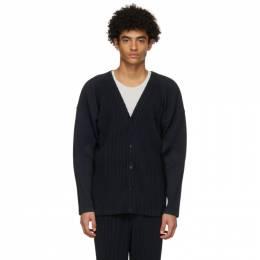 Homme Plisse Issey Miyake Navy Basics Cardigan HP16JL141