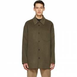 Acne Studios Khaki Wool Double-Faced Shirt B90505-