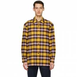 Acne Studios Yellow Plaid Over Shirt CB0027-