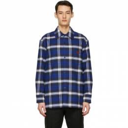 Acne Studios Blue Plaid Over Shirt CB0027-