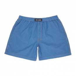 Double Rainbouu Blue Linen Boxers DR110