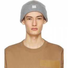 Acne Studios Grey Wool Patch Beanie C40134-