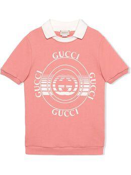 Gucci Kids платье с принтом Gucci Disk 649575XJC7E