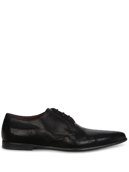 Dolce&Gabbana calf leather pointed Derby shoes A10669A1828