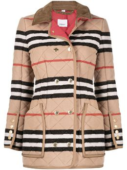 Burberry Icon Stripe quilted riding jacket 8037037