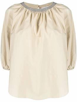 Brunello Cucinelli блузка с декором Monili M0F79FC400C7549