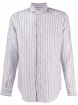 Eleventy рубашка в вертикальную полоску C75CAMA05TES0C026