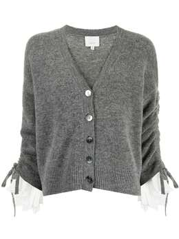 Cinq A Sept Atlas ruched-sleeves cardigan ZK5863177Z