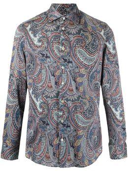 Etro рубашка на пуговицах с принтом пейсли 114514789