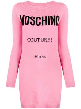 Moschino logo Couture knitted dress J0491504