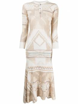 Polo Ralph Lauren geometric-print midi dress 211827930001