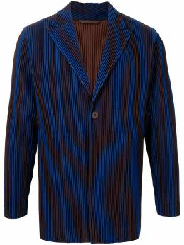 Homme Plisse Issey Miyake Splach pleated single-breasted blazer HP08JD236