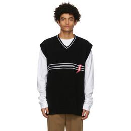 Marni Black Wool Striped Vest CVMG0060Q0 S17623