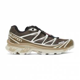 Salomon Brown and Beige XT-6 Advanced Sneakers 413950