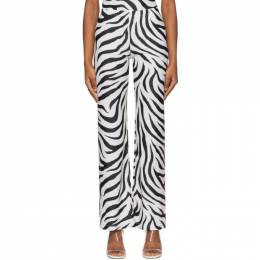 Maryam Nassir Zadeh SSENSE Exclusive White and Black Dance Lounge Pants 1828
