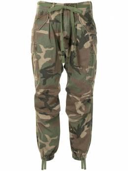 R13 брюки с камуфляжным принтом и низким шаговым швом R13W803609C
