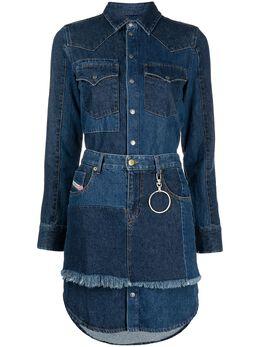 Diesel джинсовое платье-рубашка A042510ECAZ