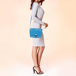 3.1 Phillip Lim Blue Nubuck Leather Mini Pashli Messenger Bag 380776