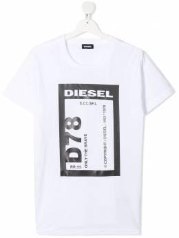 Diesel Kids TEEN logo print short-sleeved T-shirt J0017000YI9