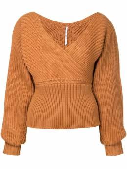 Rosetta Getty свитер с вырезом с запахом 13187G7425