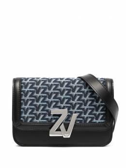 Zadig & Voltaire поясная сумка с монограммой SKAT4001F