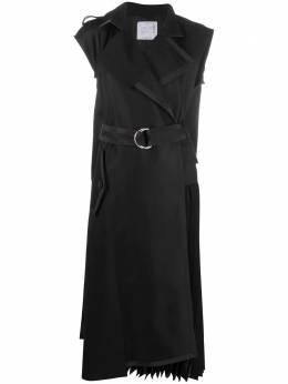Sacai платье-тренч с запахом 2105387