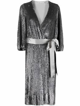 Alice + Olivia платье с пайетками и V-образным вырезом CC011E55523