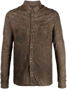 Giorgio Brato куртка-рубашка с эффектом потертости GU21S9896VBRUSH