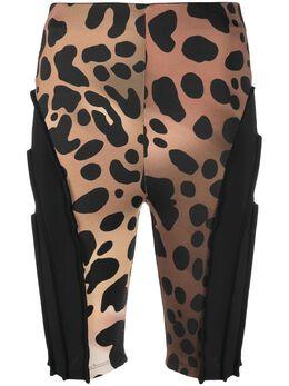 Just Cavalli облегающие шорты с леопардовым принтом S02MU0083N21546