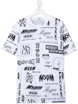 MSGM Kids футболка с короткими рукавами и логотипом MS027635