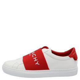 Givenchy White/Red Urban Street Logo Sneakers Size EU 37.5 383173
