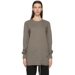Rick Owens DRKSHDW Taupe Level Long Sleeve T-Shirt DS21S2218 RN