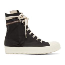 Rick Owens DRKSHDW Black Cargo High Sneakers DS21S2801 CNP