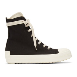 Rick Owens DRKSHDW Black License Plate High Sneakers DS21S2800 TNAPH2
