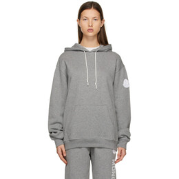 Moncler Grey Oversized Logo Hoodie G10938G77100809LC