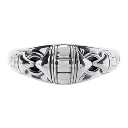 Tom Wood Silver Link Band Ring R74LBNA01S925-B
