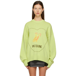 We11Done Green Printed Sweater WD-KT0-21-611-U-LM