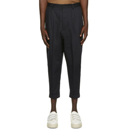 Ami Alexandre Mattiussi Navy Oversized Carrot Fit Trousers E21HT617.248