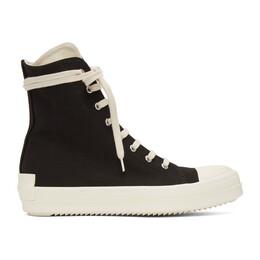 Rick Owens DRKSHDW Black High Sneakers DU21S2800 TNAPH2